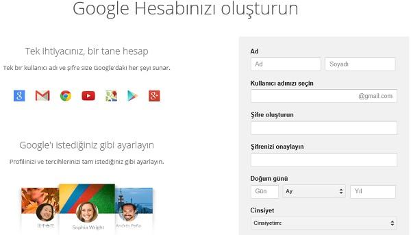 Gmail Kaydol