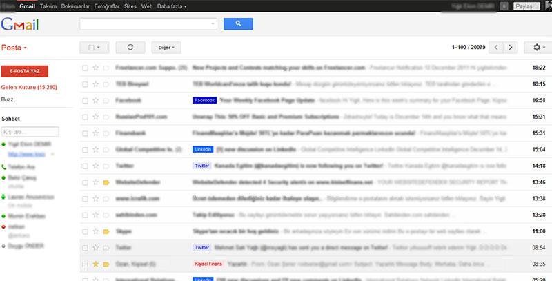 Gmail Gelen Kutusu Hakkında Bilgi