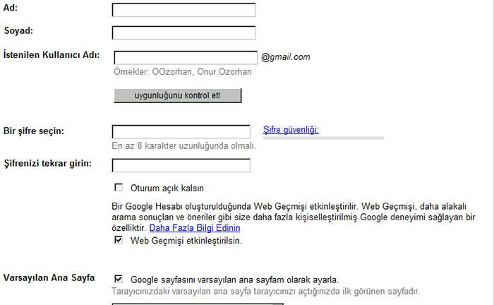 Gmail Hesabına Nasıl Sahip Olunur?