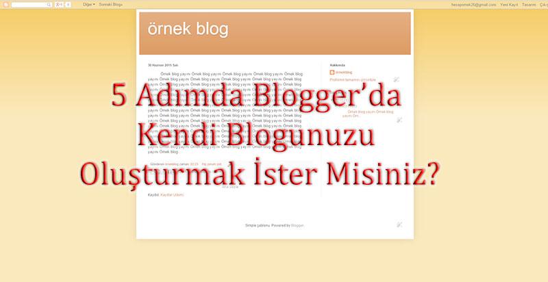 5 Adımda Blogger'da Kendi Blogunuzu Oluşturmak İster Misiniz?
