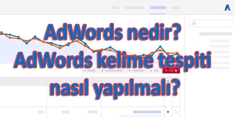AdWords nedir? AdWords kelime tespiti nasıl yapılmalı?