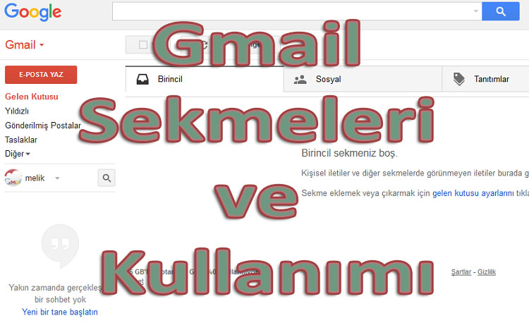 Gmail Sekmeleri ve Kullanımı