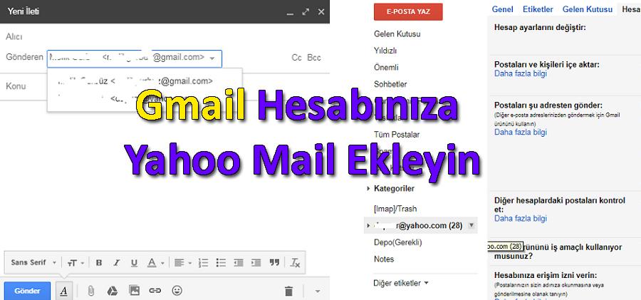 Gmail Hesabınıza Yahoo Mail Ekleyin
