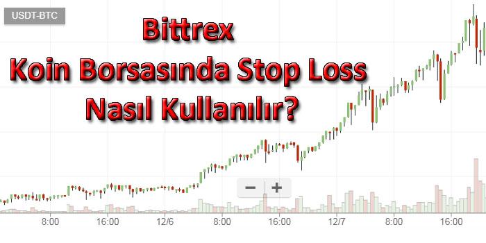 Bittrex Koin Borsasında Stop Loss Nasıl Kullanılır?