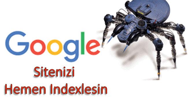 Google Sitenizi Hemen Indexlesin
