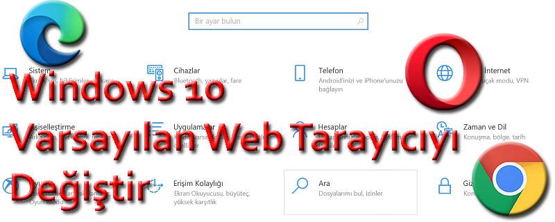 Windows 10 Varsayılan Web Tarayıcıyı Değiştir